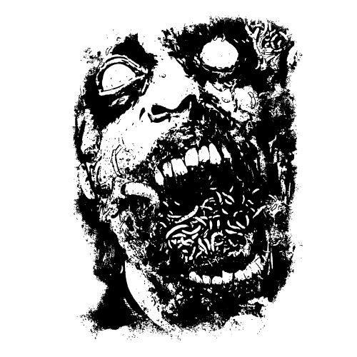 500x500 Zombie Face Vector Graphics Public Domain Vectors