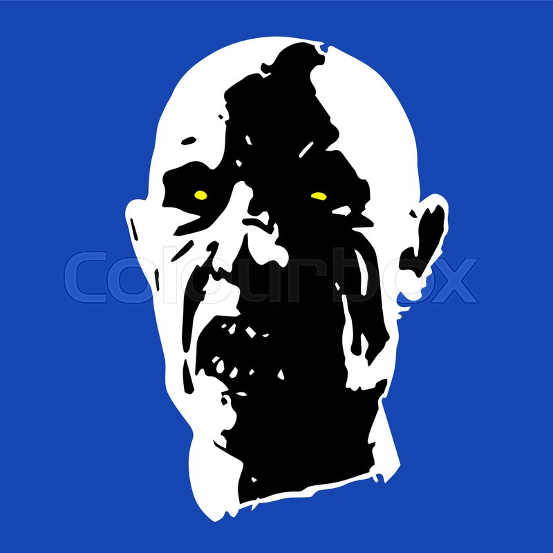 800x800 Zombie Face. Horror Picture. Vector Illustration Stock Vector