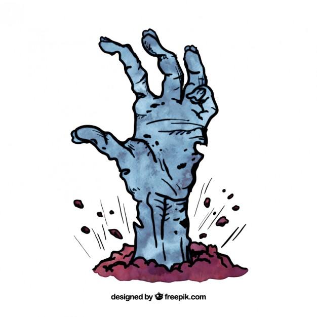 626x626 Dead Zombie Hand Vector Premium Download