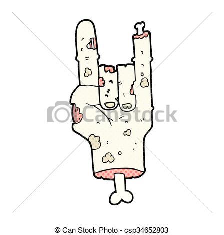 449x470 Freehand Drawn Cartoon Zombie Hand.