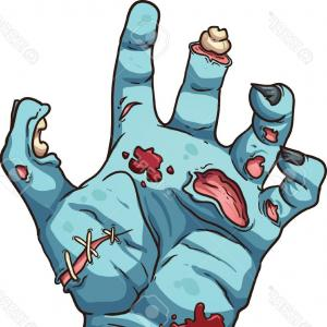 300x300 Grabbing Zombie Hand With Claws Vector Clipart Lazttweet