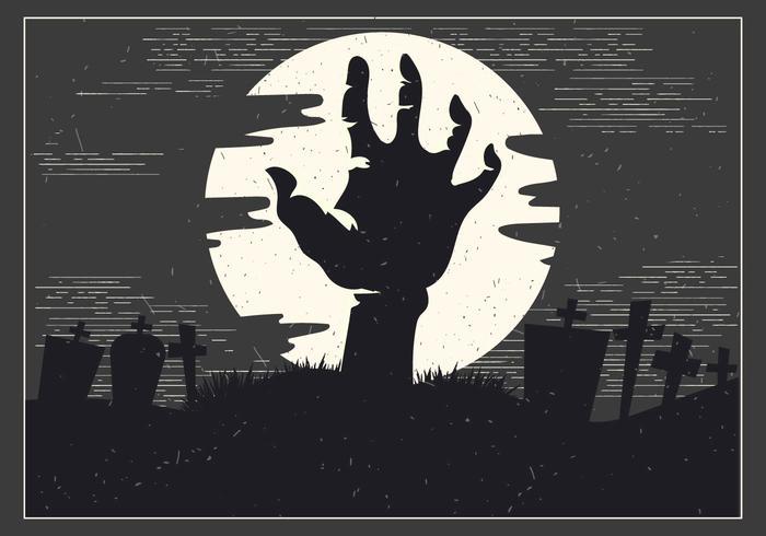 700x490 Halloween Zombie Hand Vector
