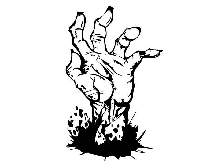 700x541 Hand Clipart Zombie