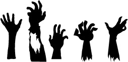 254x124 Collection Of Zombie Hand Clipart High Quality, Free