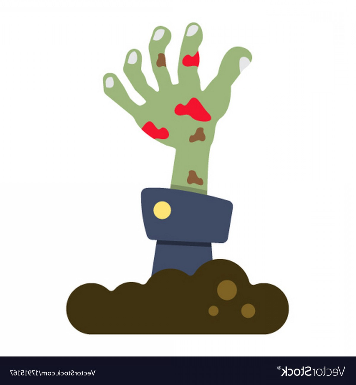 1200x1296 Zombie Hand Flat Icon Halloween And Scary Vector Shopatcloth
