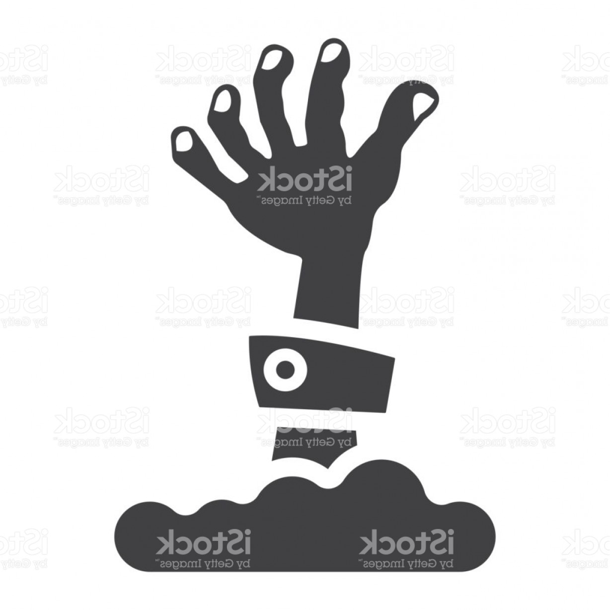 1228x1228 Zombie Hand Glyph Icon Halloween And Scary Dead Sign Vector