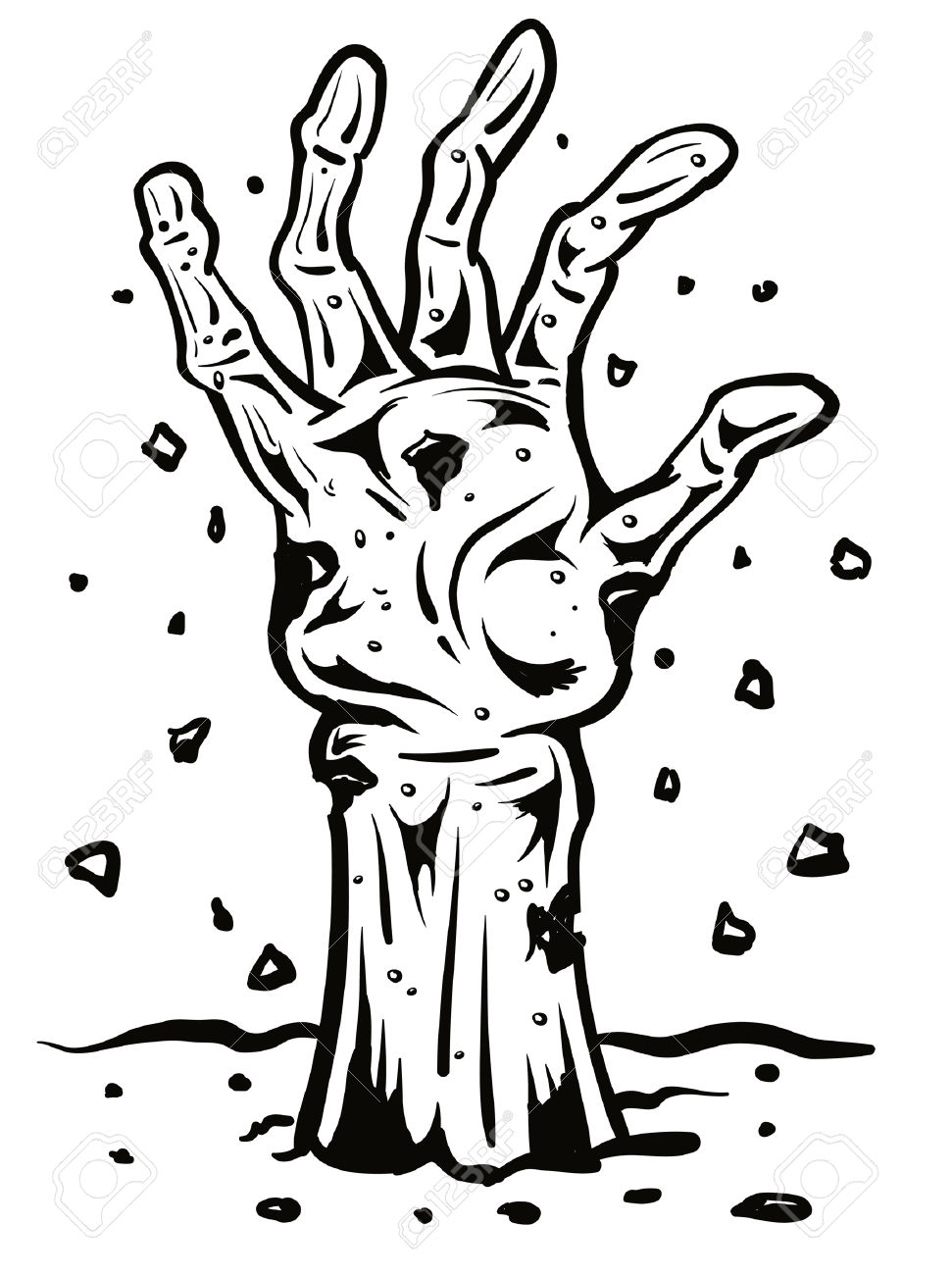 971x1300 Collection Of Zombie Hand Coming Out Of Ground Clipart High