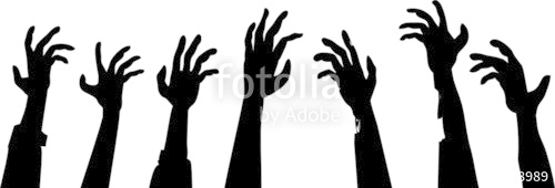 500x170 Zombie Hands Footer Stock Image And Royalty Free Vector Files On