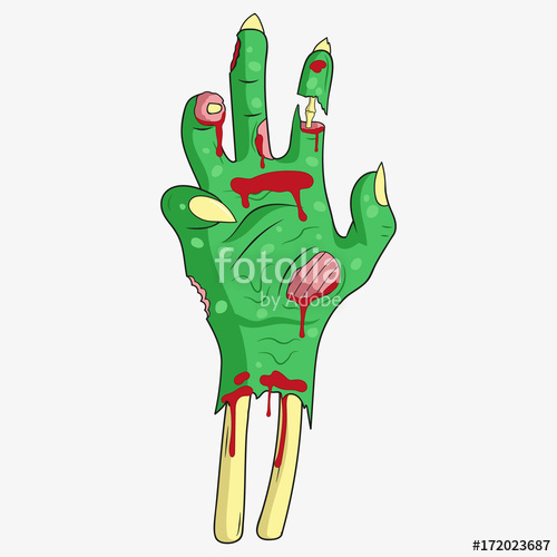 500x500 Zombie Hand. Vector. Stock Image And Royalty Free Vector Files On