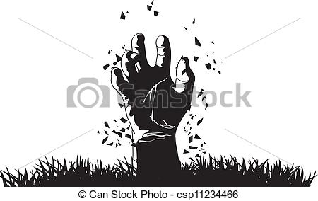450x284 Collection Of Free Graves Clipart Zombie Hand. Download On Ubisafe