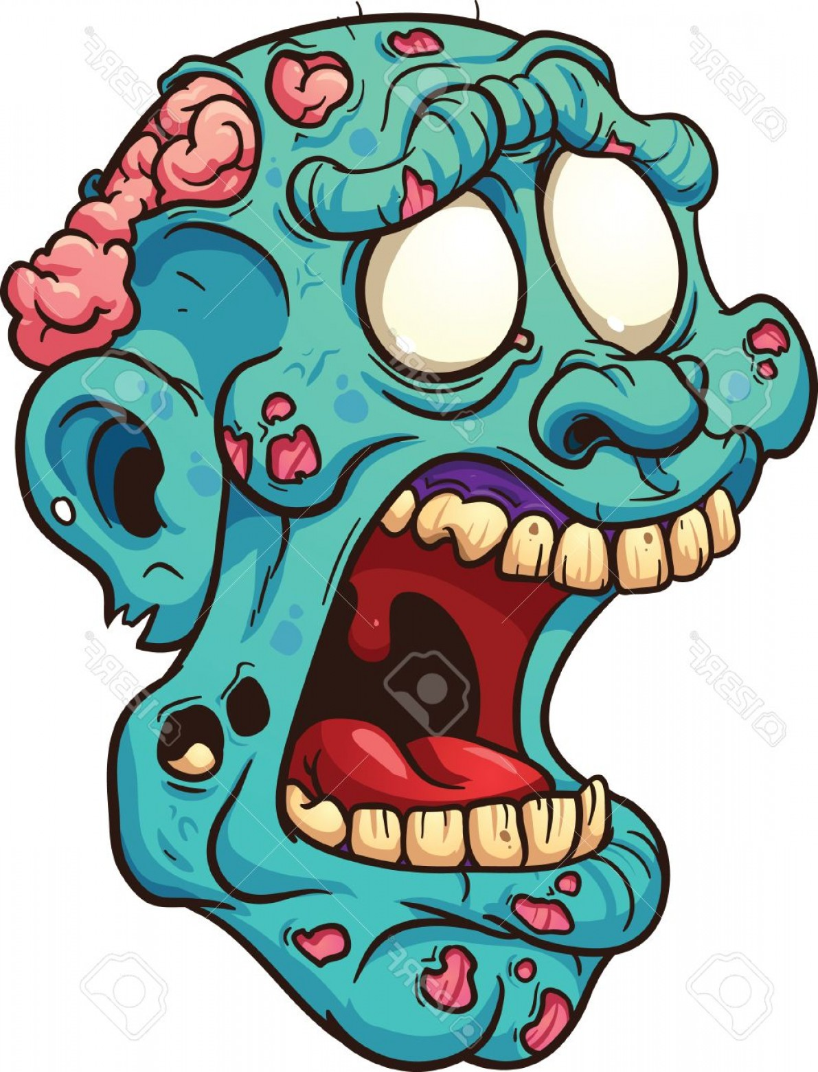 1191x1560 Photostock Vector Cartoon Zombie Head Vector Clip Art Illustration