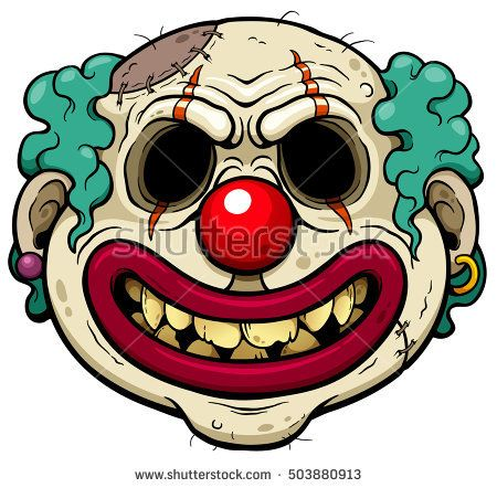 450x442 Vector Illustration Of Cartoon Clown Zombie Face Zombie In 2018