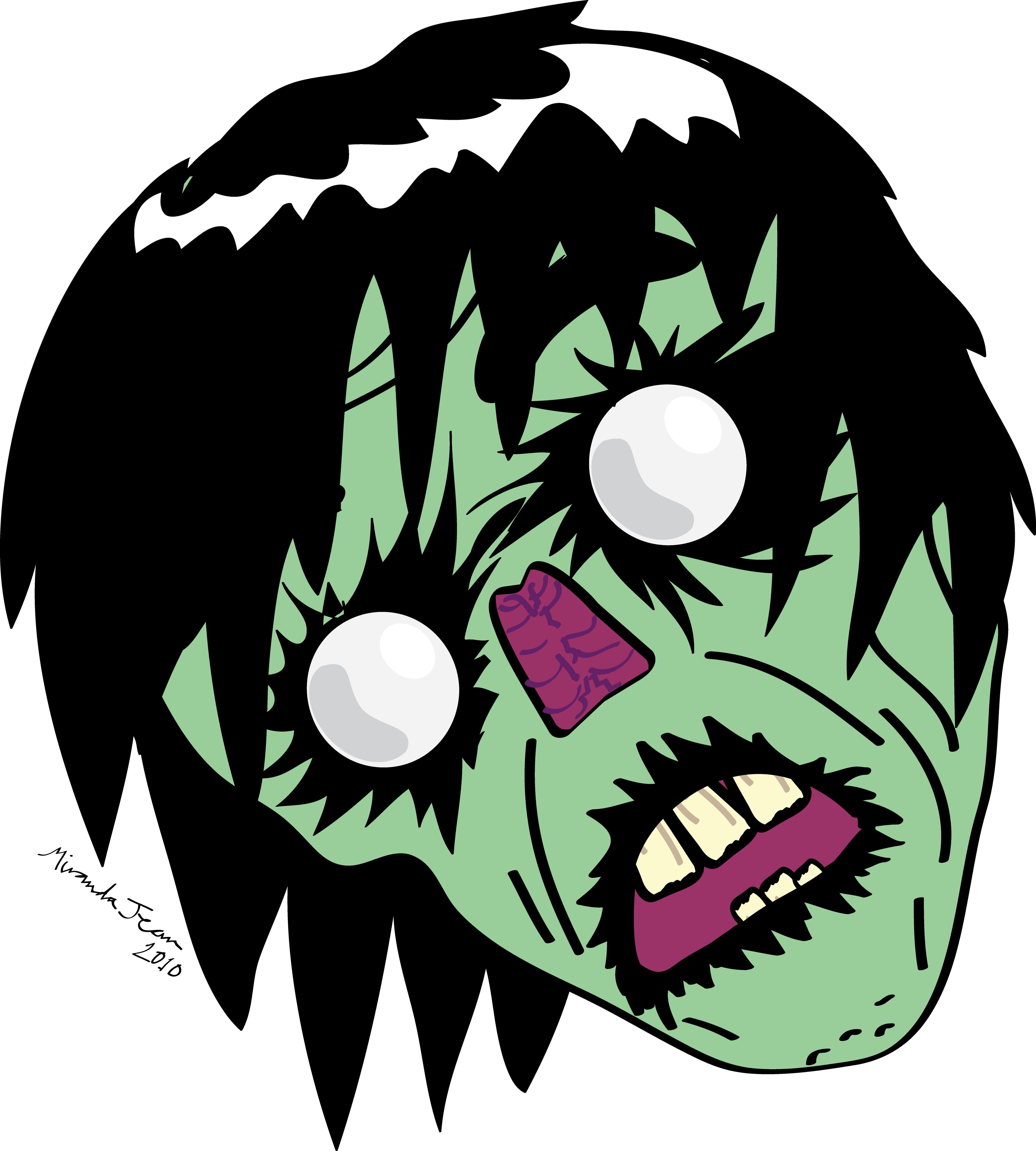 4167x4630 Zombie Clipart Zombie Head