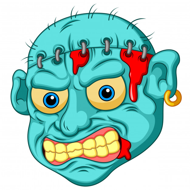 626x626 Zombie Head Cartoon Vector Premium Download