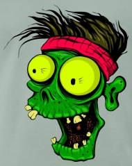 190x239 Zombie Head Monster Vector Image Cartoon Drawing By Andriy