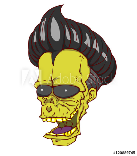 438x500 Zombie Head Vector And Illustration. Monster In Halloween Nignt