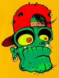 190x249 Cartoon Zombie Head Monster Vector Image Drawing By Andriy
