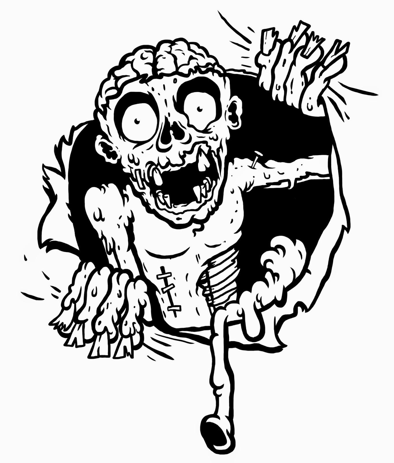 1363x1600 Vector Zombie Graphic ~ Freedesigns24