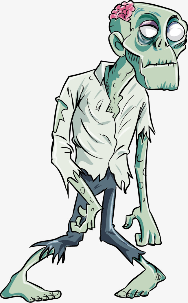 650x1044 Vector Zombie, Zombie Vector, Zombie, Vector Free Download Png And