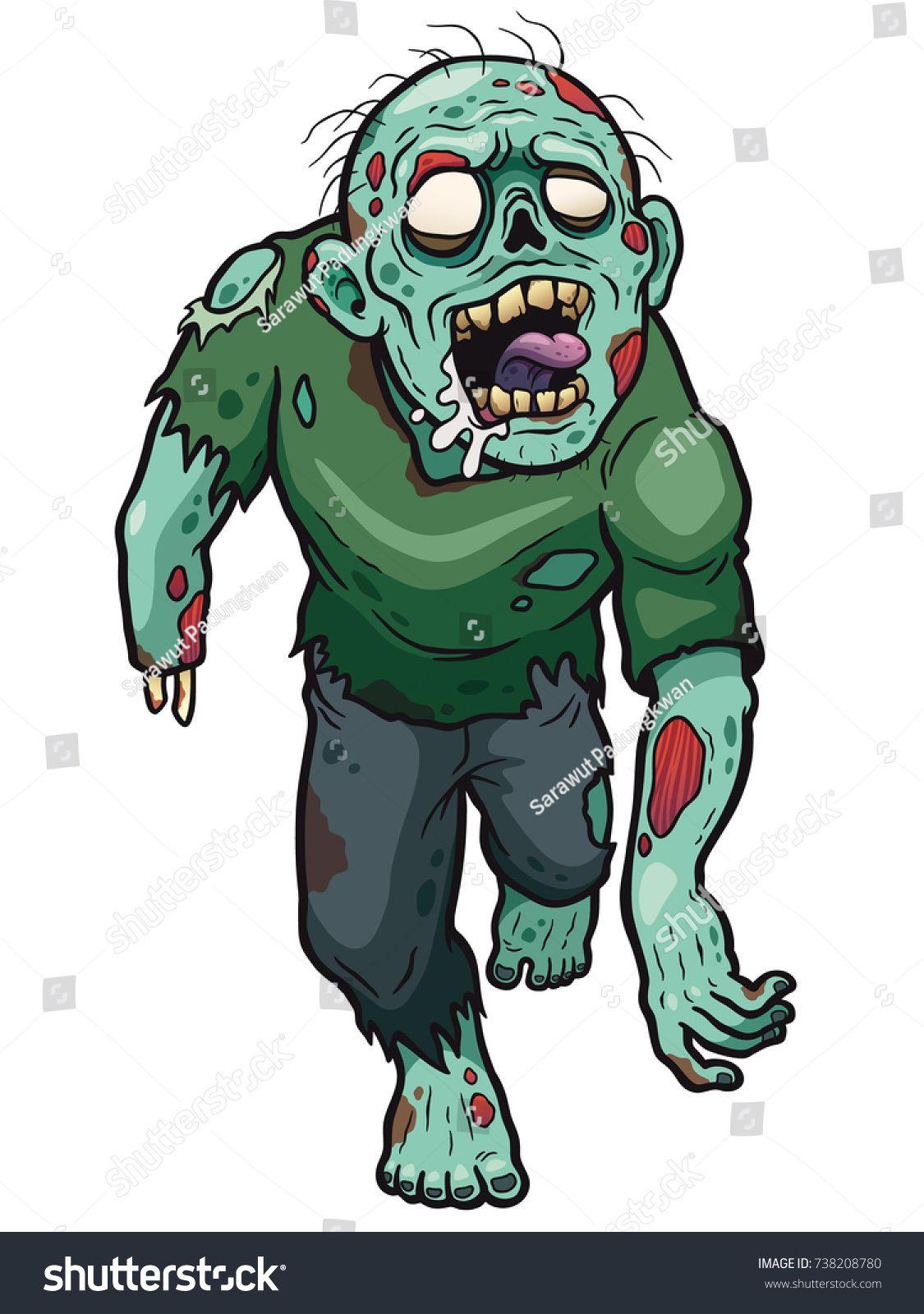 1125x1600 Vector Illustration Of Cartoon Zombie Zombies