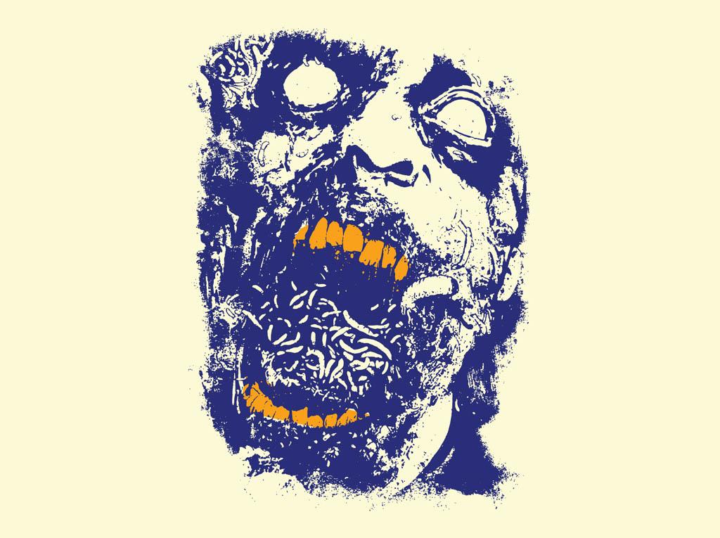 1024x765 Zombie Face Vector Art Amp Graphics