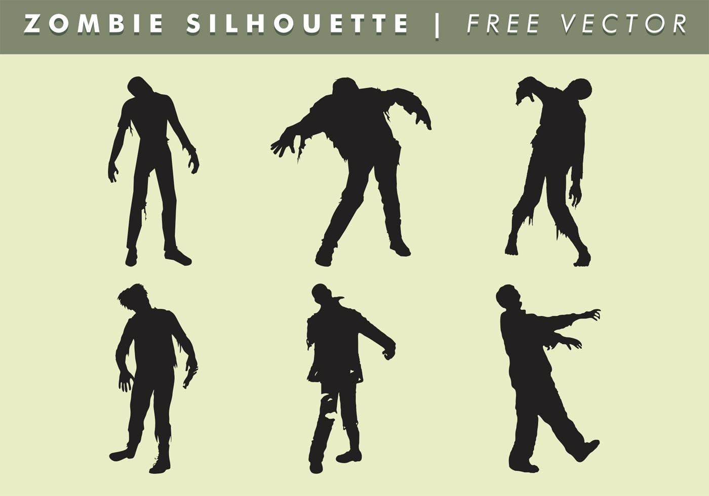 1400x980 Zombie Silhouette Vector Free
