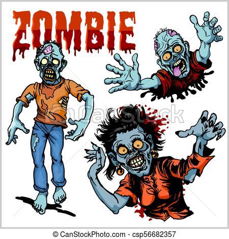 450x470 Zombie Comic Set