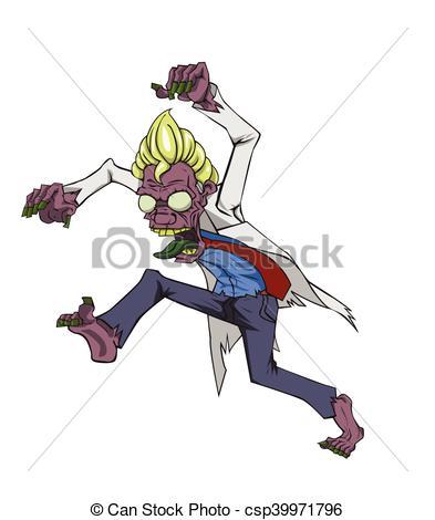 393x470 Doctor Zombie Vector. Zombie Vector. Monster In Halloween... Eps
