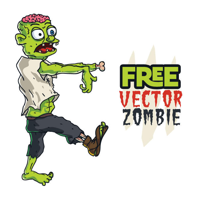 693x693 Free Vector Zombie By Pixaroma