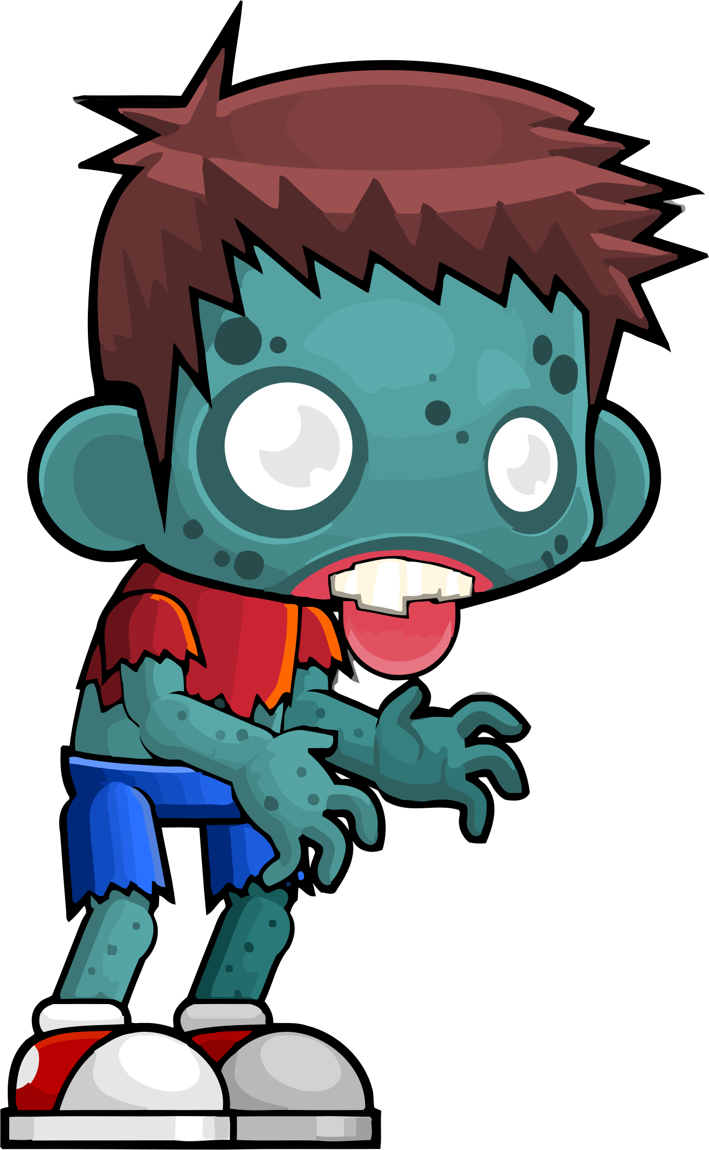 1380x2238 Male Zombie Vector Clipart Image