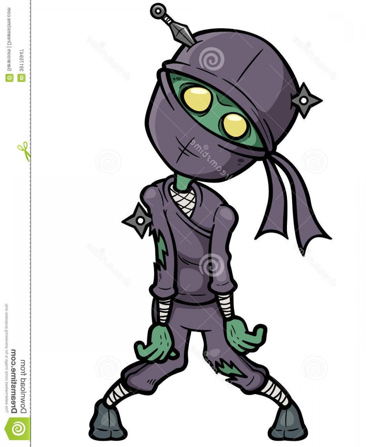 1278x1560 Royalty Free Stock Photography Cartoon Ninja Zombie Vector
