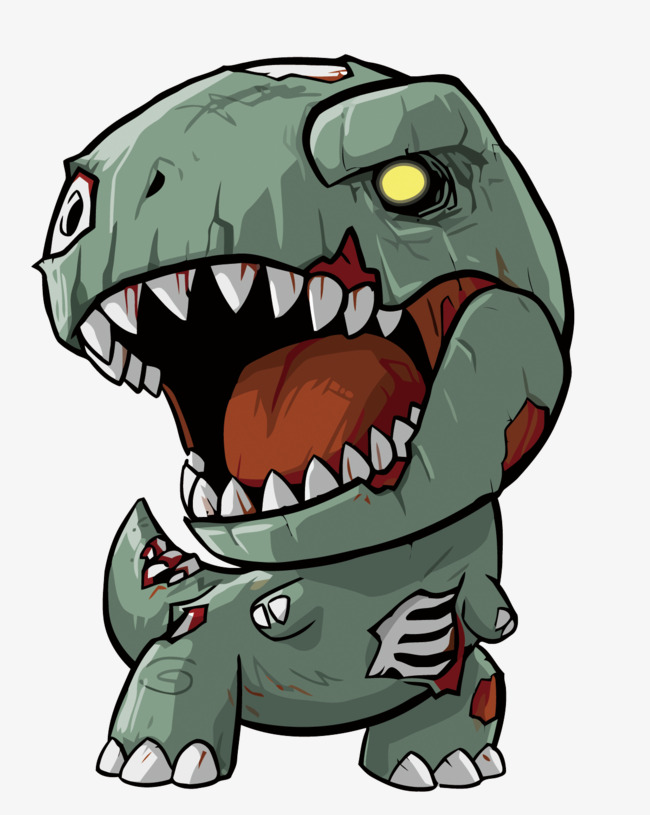 650x815 Zombie Dragon Vector, Dinosaur, Zombie, Zombie Vector Png And