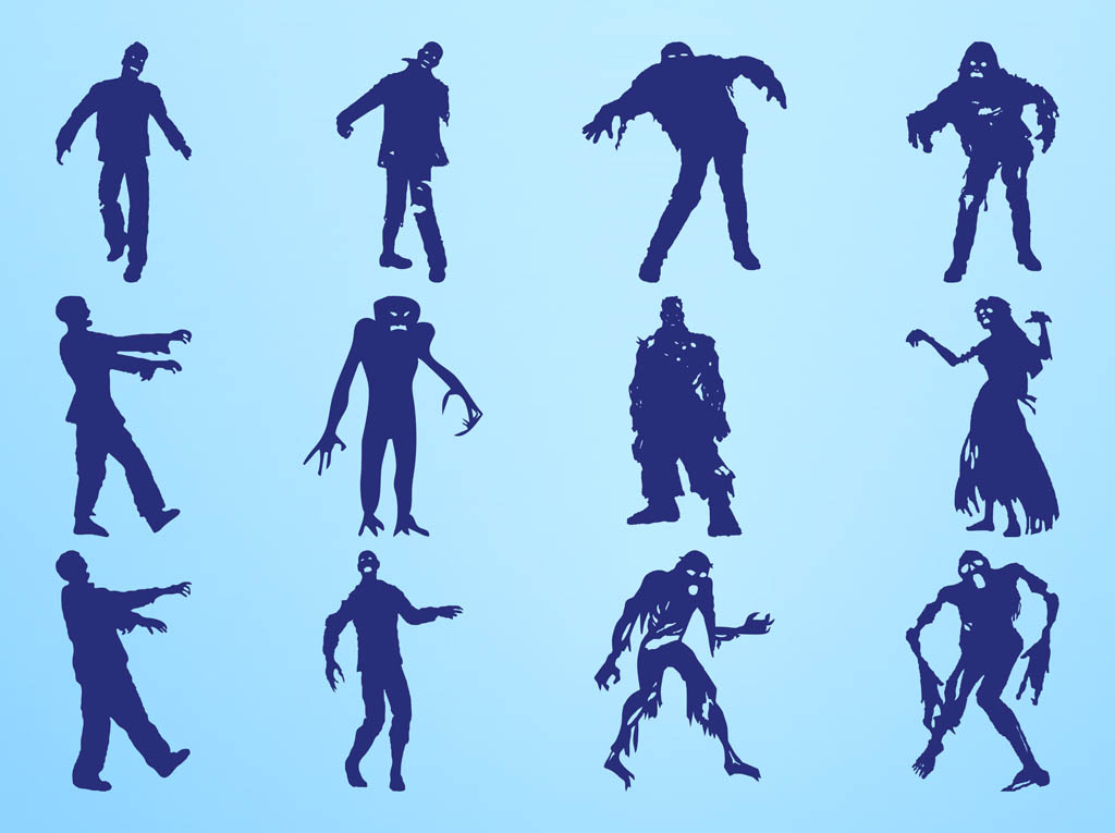 1024x765 Zombie Silhouettes Graphics Free Vectors Ui Download