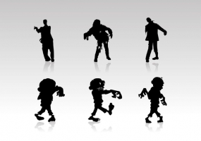 285x200 Zombie Silhouette Free Vector Graphic Art Free Download (Found