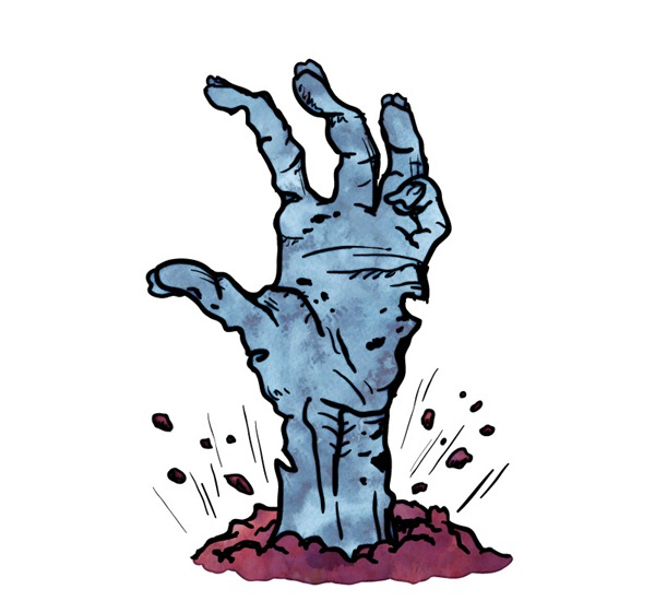 600x550 Emerged Zombie Arm Vector Graphics My Free Photoshop World