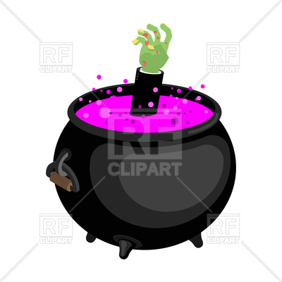 400x400 Pot With Magical Potion And Zombie Hand Vector Image Vector