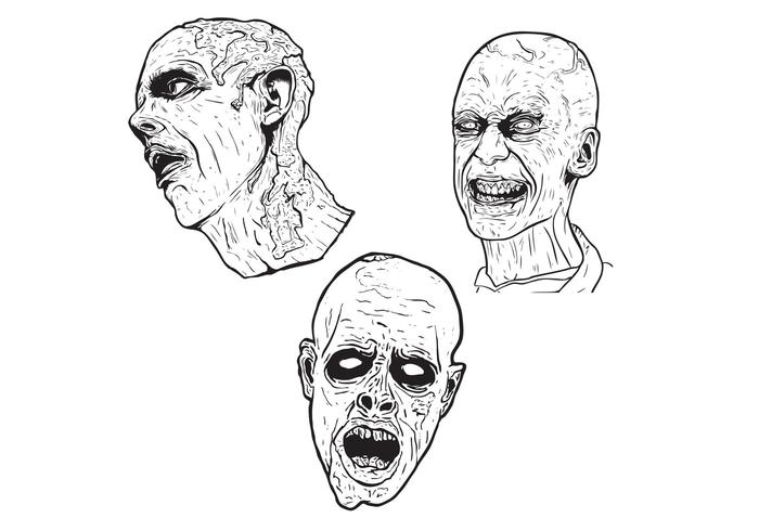 700x490 3 Free Illustrated Scary Zombie Vector Graphics