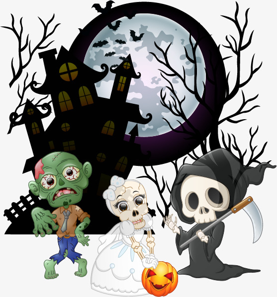 557x598 Zombie Halloween Creative Advertising Vector Material, Zombie