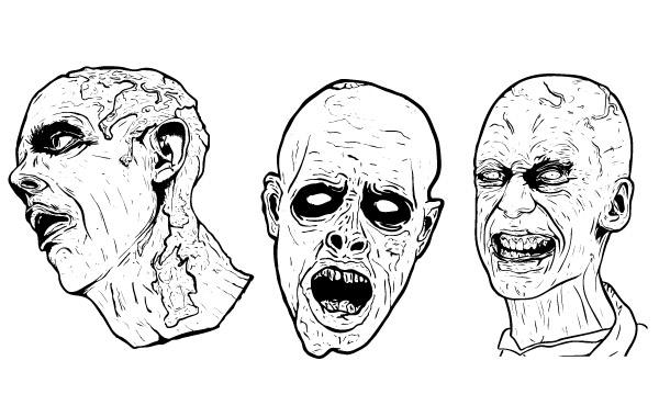 600x380 3 Free Illustrated Scary Zombie Vector Graphics