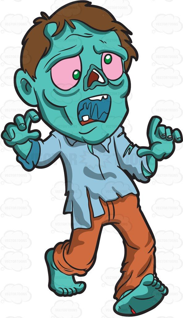 592x1024 A Running Zombie Zombies Zombie Cartoon And