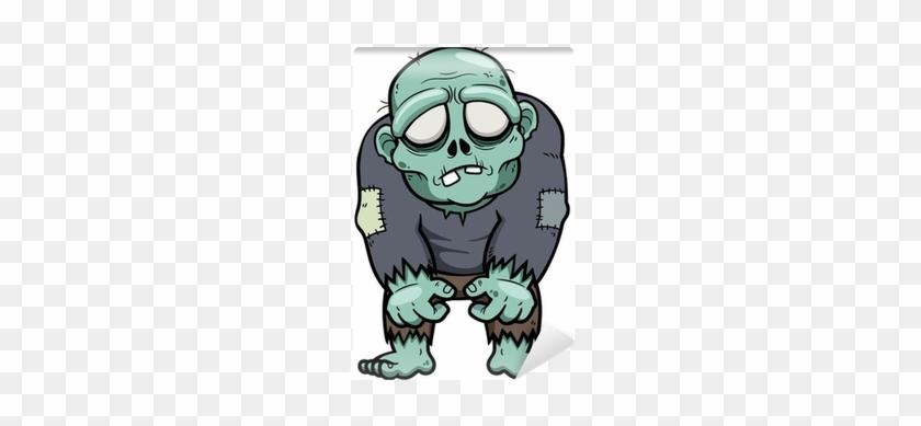 840x389 Vector Illustration Of Cartoon Zombie Wall Mural