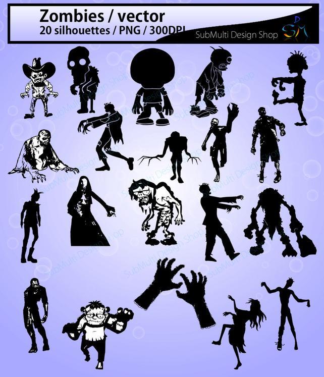 642x747 Zombie Silhouette 20 Zombies Zombie Zombie Clipart