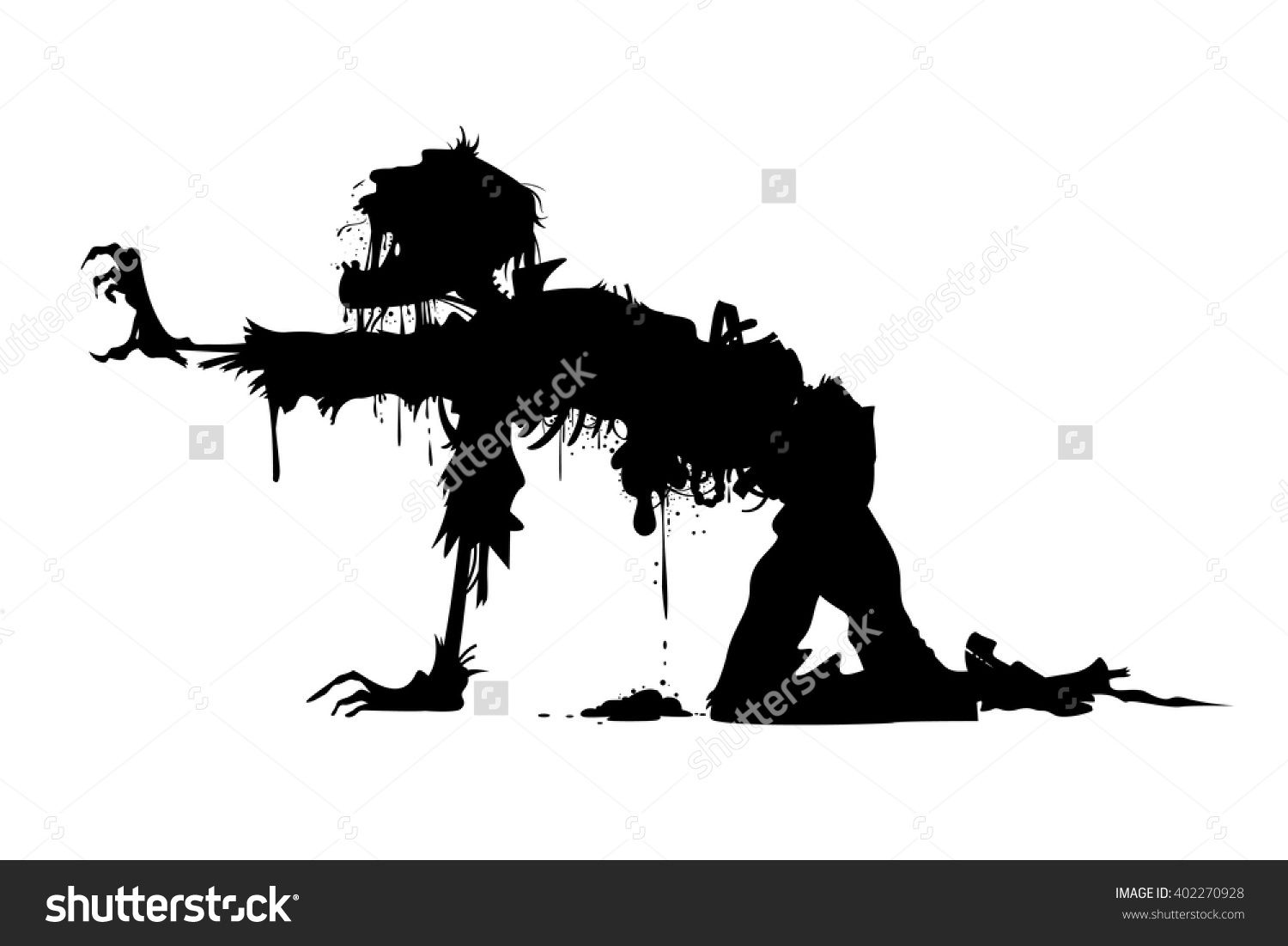 1500x1101 Rotting Zombie Soldier Vector Silhouette Bedroom