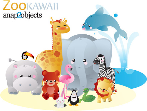 488x368 Free Vector Zoo Animals Free Vector Download (7,276 Free Vector