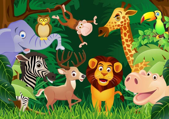550x387 Happy Zoo Animals Vectors