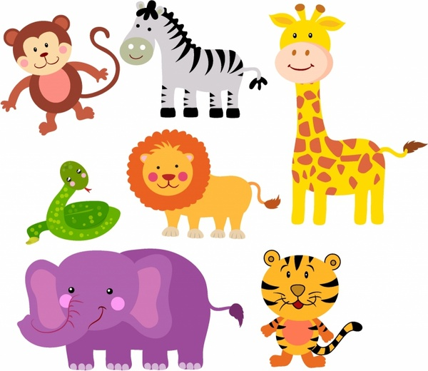 600x520 Safari Animals Free Vector In Adobe Illustrator Ai ( .ai