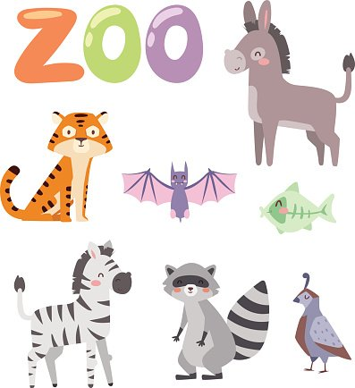 397x434 Zoo Animals Vector Premium Clipart