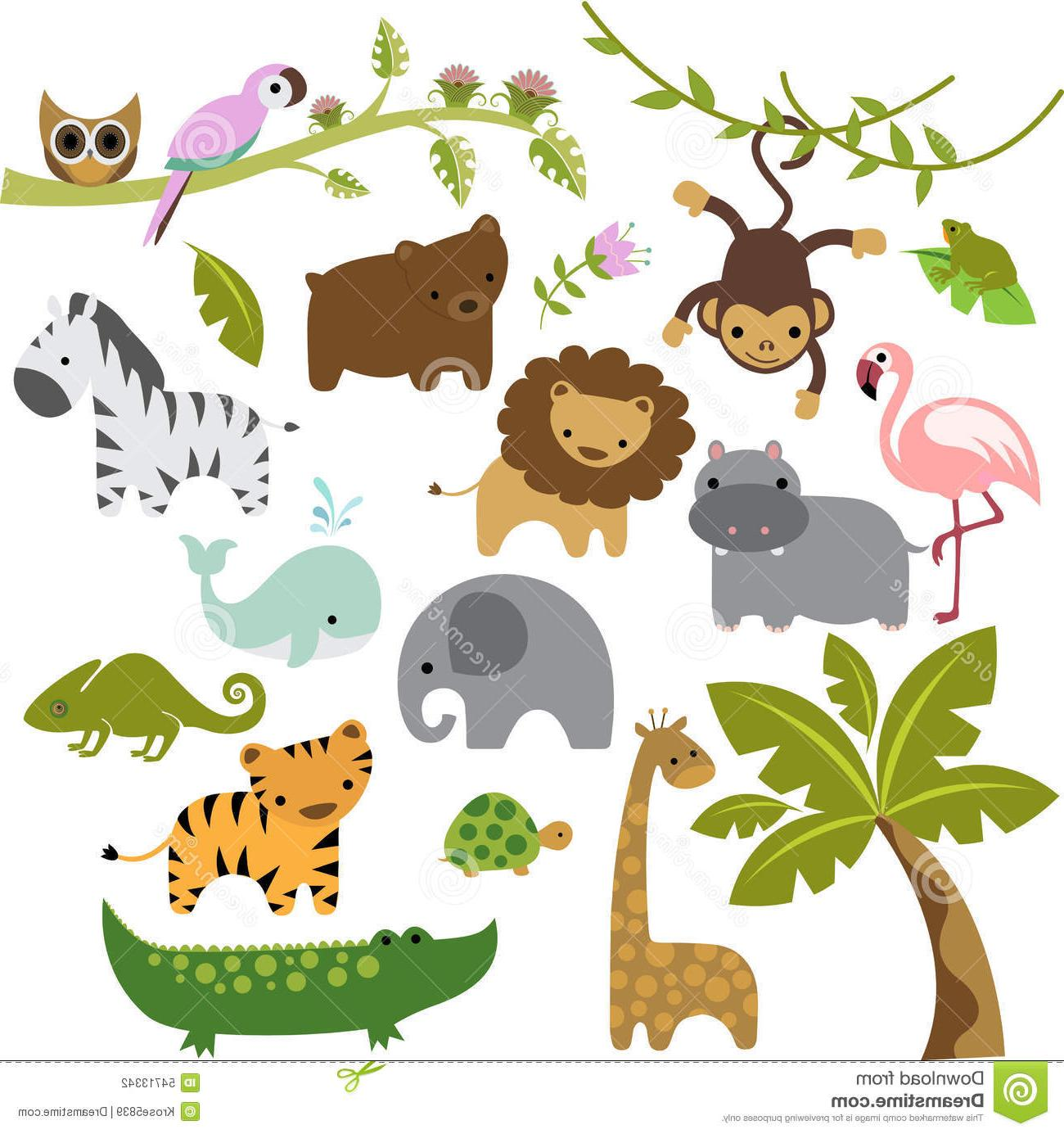 1300x1385 Best Hd Baby Zoo Animals Vector Clipart Set Cute Animal Vectors Images