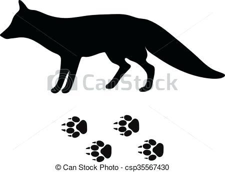 450x345 Fox Silhouette Clip Art Black Silhouette Fox Wild Animal Zoo
