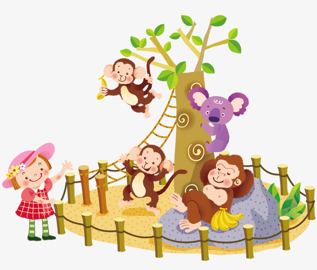 650x554 Happy Zoo, Vector Diagram, Monkey, Zoo Png And Vector For Free